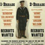 Recruitment Poster for Royal Naval Division including Drake Batallion