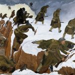 Painting entitled 'Over The Top' by John Nash, depicting the attack at Welsh Ridge, near Marcoing