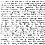 Cricket Club Article from the Leamington Courier, 18 April 1919