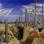 Painting entitled 'Oppy Wood 1917 Evening' by John Nash