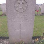 Charles Bird's gravestone in Duisans British Cemetery, Etrun, France