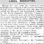 Article in Leamington Courier on 30 Apri 1915 listing the enrolment of Raymond Brooks
