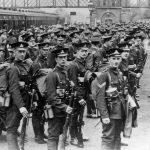 Royal Warwickshire Regiment departing for France