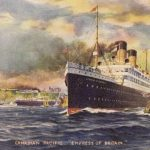 Painting of the Canadian Pacific ship 'Empress of Britain'