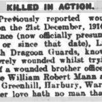 Obituary of Robert Mann Leamington Courier, 26 December 1919