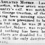 Obituary of Gabriel Overton, Leamington Spa Courier, 15 June 1917