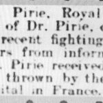 Article of the wounding of Allan Pirie, Leamington Spa Courier, 1 September 1916