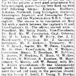 Cricket Club article in the Leamington Courier, 18 April 1919