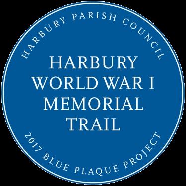 Harbury World War 1 Memorial Trail Blue Plaque