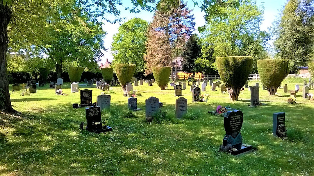 Harbury Cemetery in May 2019