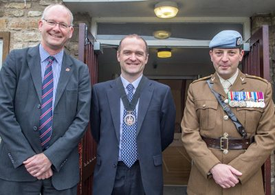 Capt Potter with Cllrs Lockley and Gibb
