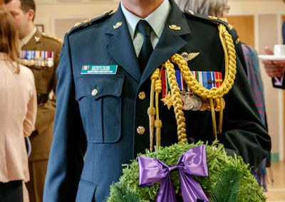 Lt Col Rushen with Canada wreath