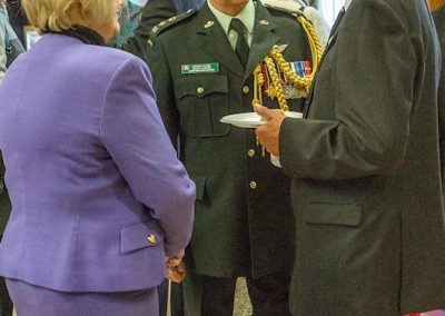 Lt Col Rushen with Cllr Thornley and Sq Ldr (rtd) Dr Allan Gibb of Harbury