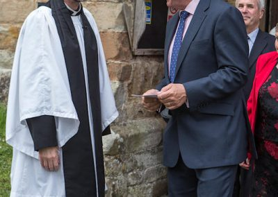 Lord Lt chats with Rev Groocock