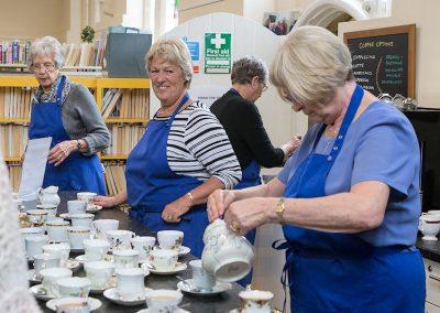 The tea awaits at Harbury Library