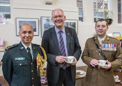 Lt Col Rushen, Cllr Gibb and Cap Potter