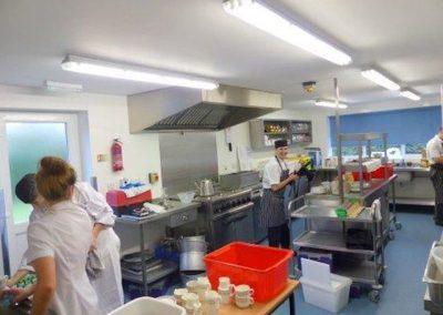 Modern, professional kitchen