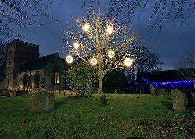 Seasonal Lights at the Church